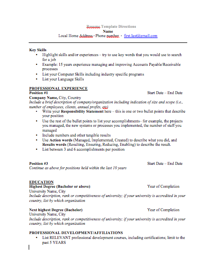 resume for a 16 year old